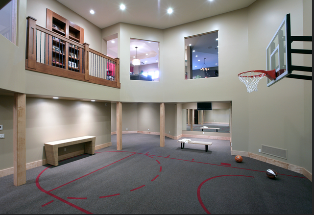 Indoor Home Basketball Court Game Room