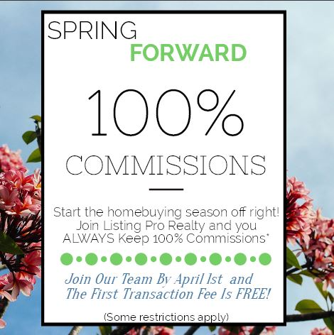 Spring Forward! Keep 100% Commissions